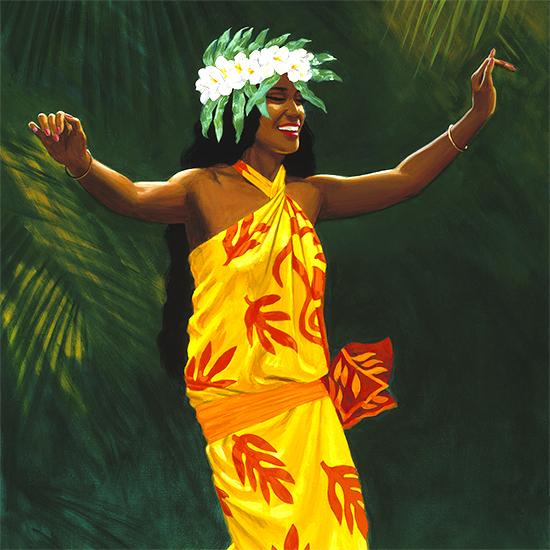 Herb Kane Artwork Hawaii Hula Dancer Painting